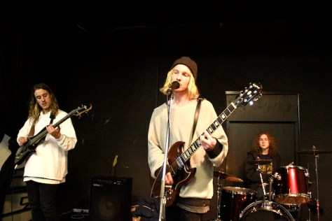 Slab - Nelson Fuller on lead guitar and vocals, Ben Blaak on bass and James Pacholli on drums