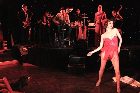 Lowdown Hokum Orchestra featuring burlesque artist Sina King