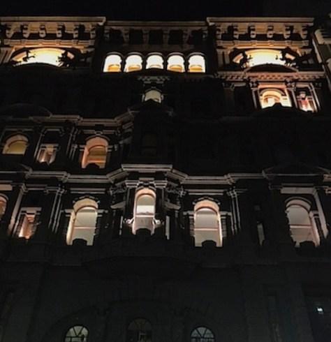 Lights on in Elisabeth Street