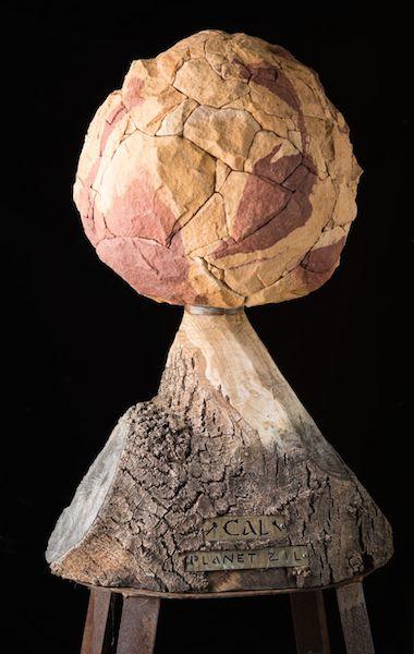Planet Zil, sandstone sculpture of Calthestoner