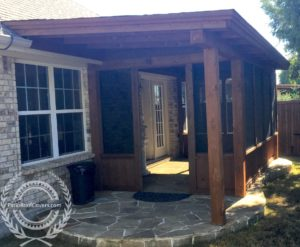 screen rooms with pony walls patio