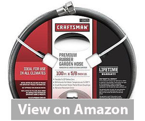 Best Garden Hose - Craftsman Premium Rubber Garden Hose Review