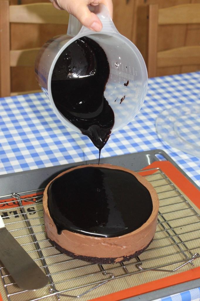 זיגוג שוקולד כהה