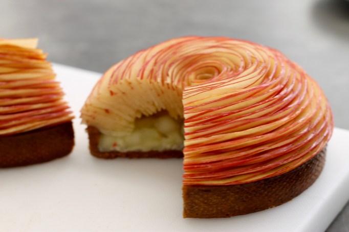 טארט תפוחים - צילום חתך