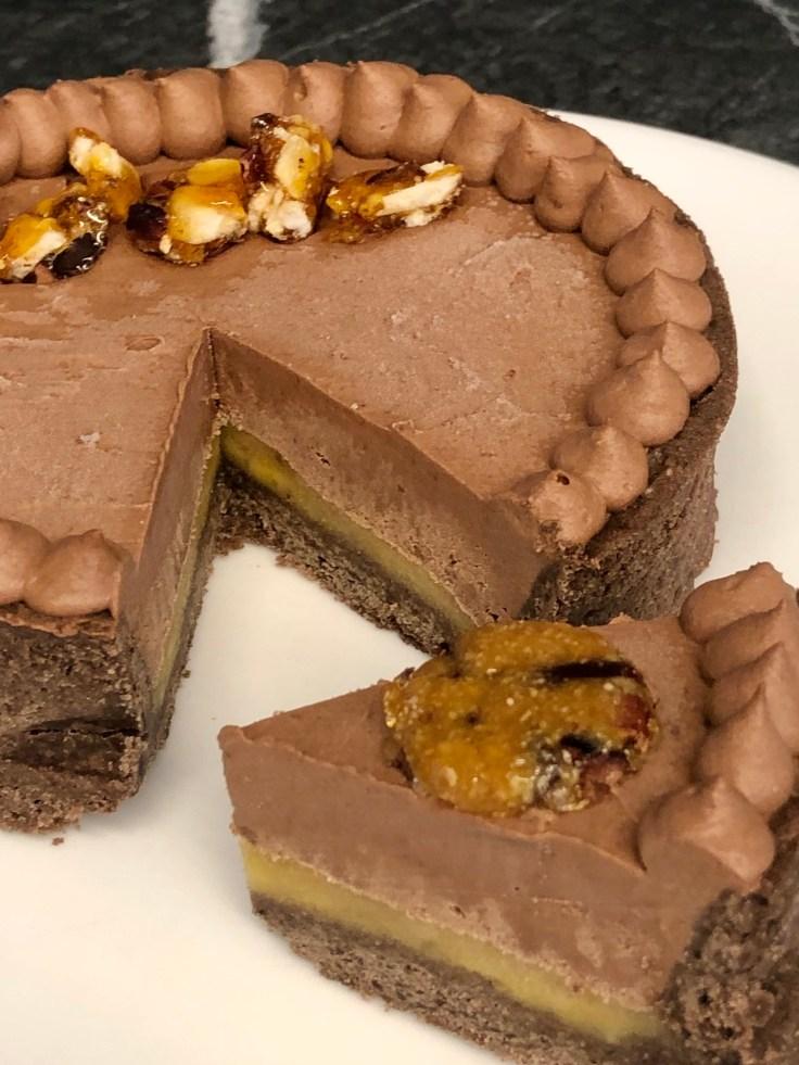 טארט שוקולד בננה