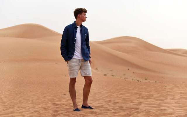 Dubai Desert Summer Look with Gant