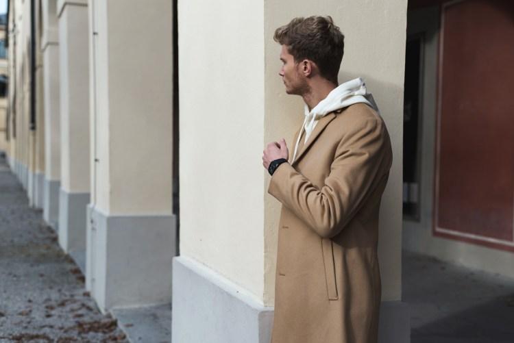 calvin klein camel coat