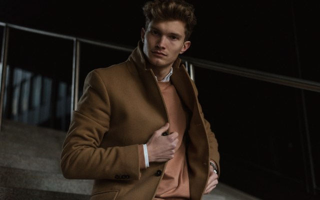 Camel Coat & Rose Pullover | Munich