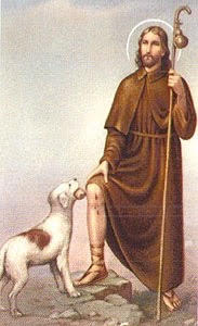St. Rocco, patron saint of dogs and the plague
