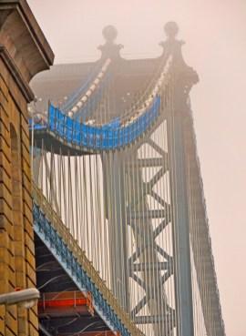 Brooklyn Manhattan Bridge in Fog