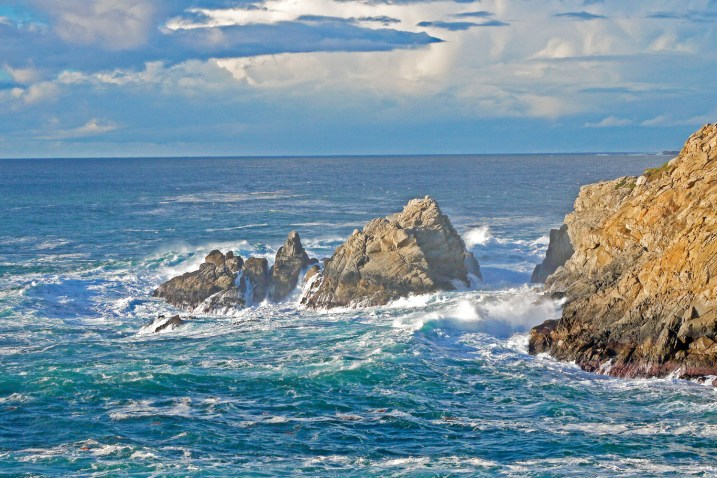 Monterey point lobos surf and rocks