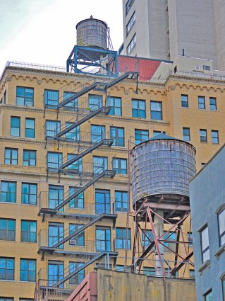 Water Tanks & Fire Escape, New York