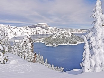 Crater Lake Mid Winter