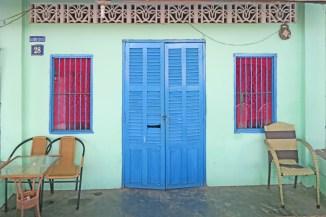 phu Quoc blue door red windows