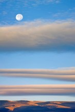Clouds & Moon, Summer Lake, OR