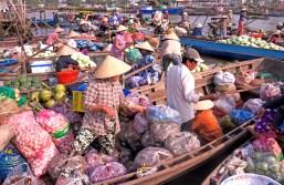 vietnam floating market color