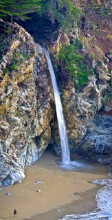 waterfall cove big sur pano