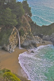 waterfall cove big sur