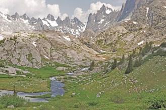 wind river titcomb basin creek and range
