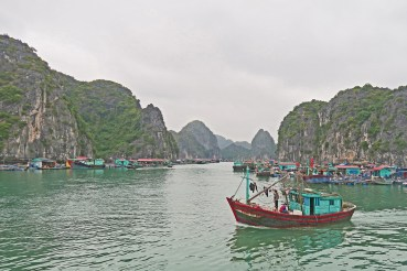 Fishing Boat & Floating Village, HaLong Bay