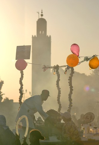 Mosque & Balloons Marrakech