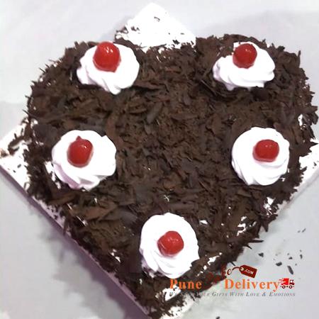 black forest heart shape cake patna danapur