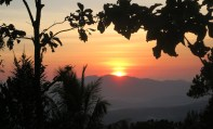 On Saturday morning, we're up at 5am to catch the dawn. You can see why the country's traditional name is Timor Lorosa'e which means Timor Sunrise. It takes another hour to drive 20km to the village of Oeiburu at the foot of Mount Matebian where we'll leave our car.