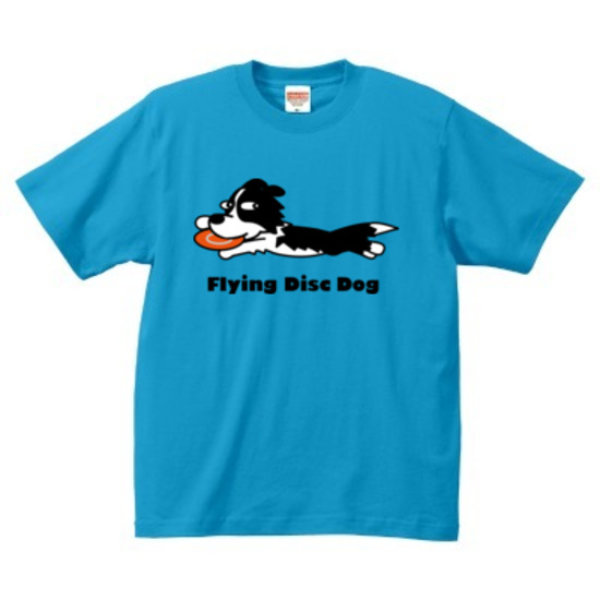 Flying Disk Dog - Tシャツ