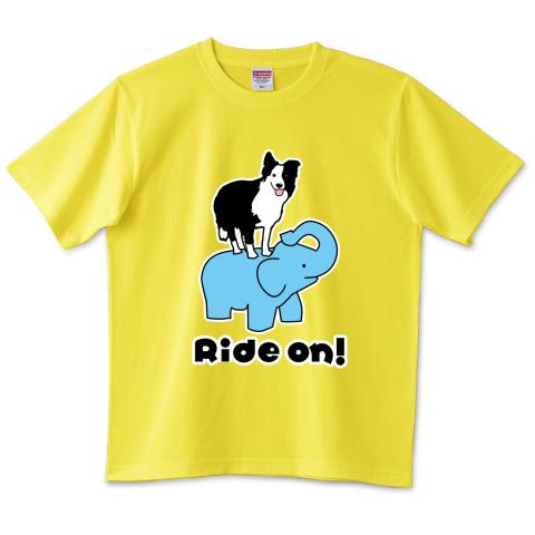 ボーダーコリー乗ってるぞう!Tシャツ