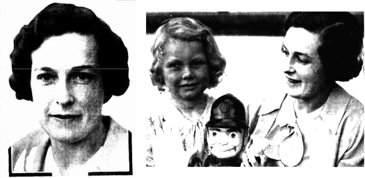 Marion MILLER in 1937 and Marion MILLER and daughter in Dec. 1936.
