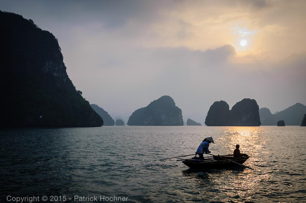 Sunset on Ha Long Bay, Vietnam