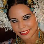 Young Panamean girl wearing a Pollera, Panama