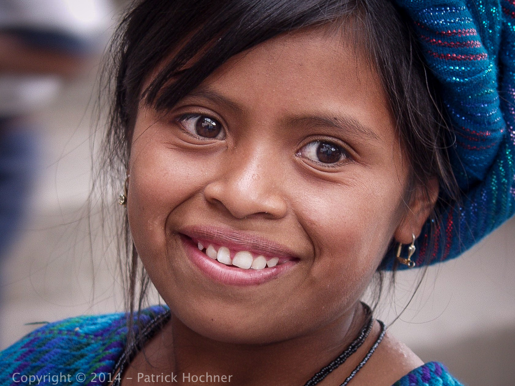 Young Indian girl, Lake Attitlan, Guatemala