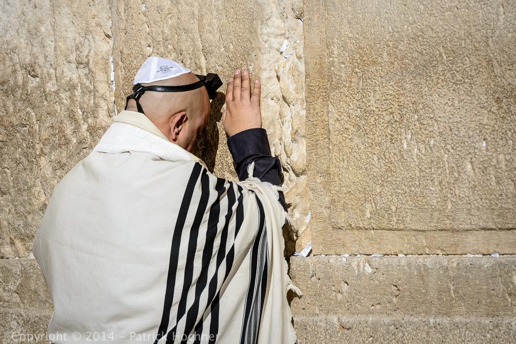 Au mur des lamentations, Jérusalem, Israël