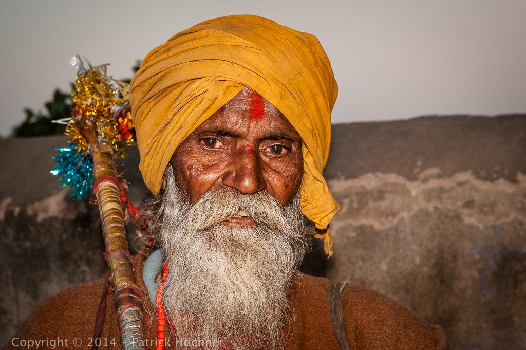 Sadhu à Orcha, Inde