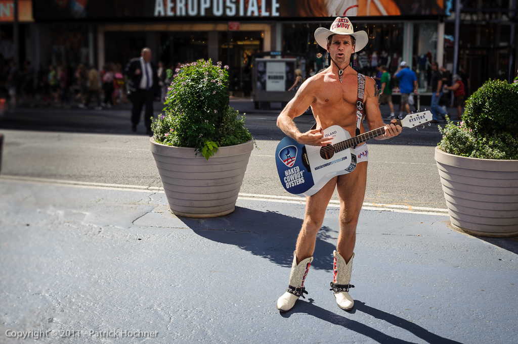 Naked Cowboy on Times Square, New York