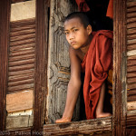 From the monastery window, Burma