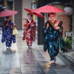 Rain over the Hanamachi, Kyoto