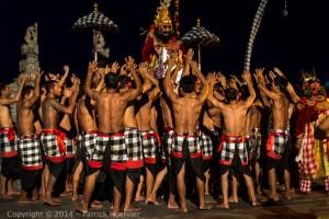 Kecak dance performance, Uluwatu Temple, Bali