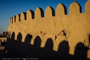 The walls of Itchan Kala, Khiva, Uzbekistan
