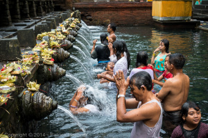 Purification in the water, Tirta Empul Temple, Bali