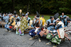 The participants are having their lunch, Jidai Matsuri