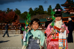 Shichi-Go-San at the Heian Jingu  Shrine, Kyoto