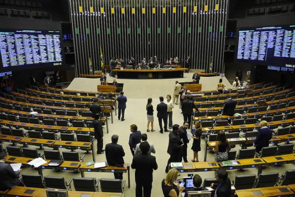 Plenário da Câmara dos Deputados durante sessão conjunta do Congresso Nacional.