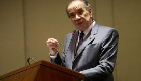 Brasília - O ministro das Relações Exteriores, Aloysio Nunes Ferreira, participa das comemorações do Dia do Diplomata, no Palácio Itamaraty (Antonio Cruz/Agência Brasil)