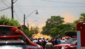 Um estudante fez disparos de arma de fogo contra colegas no Colégio Goyases, em Goiânia. Duas pessoas morreram e quatro ficaram feridas (EFE/Marcello Dantas/Cortesia Jornal O Popular/Direitos reservados)