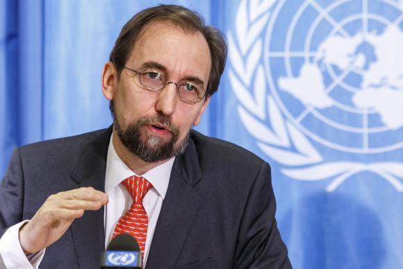 O Alto-Comissário da ONU para os Direitos Humanos, Zeid Ra ad al-Hussein