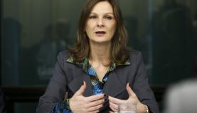 Brasília - A secretária do Tesouro Nacional, Ana Paula Vescovi, participa de reunião com parlamentares para discutir e analisar a execução orçamentária da União (Marcelo Camargo/Agência Brasil)