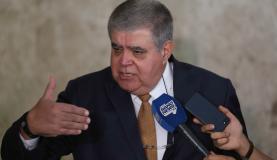 Brasília - O ministro da Secretaria de Governo da Presidência, Carlos Marun, fala à imprensa, após reunião com o presidente Michel Temer, no Palácio do Planalto (Fabio Rodrigues Pozzebom/Agência Brasil)