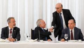 Brasília - O presidente Michel Temer participa do café da manhã com jornalistas do Comitê do Palácio do Planalto (Marcos Correa/PR)
